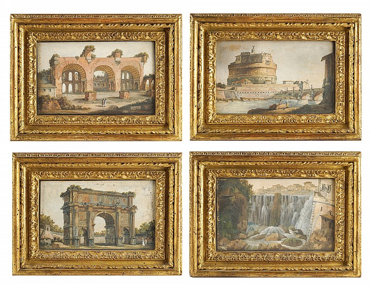 Four watercolours on paper