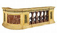 An Italian laquered wood baluster
