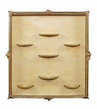 A French lacquered wood showcase