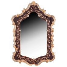 Glass mirror Murano, 20th century 94x63 cm.