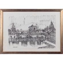 Luigi Civerchia Roma 1928 34x47 cm.