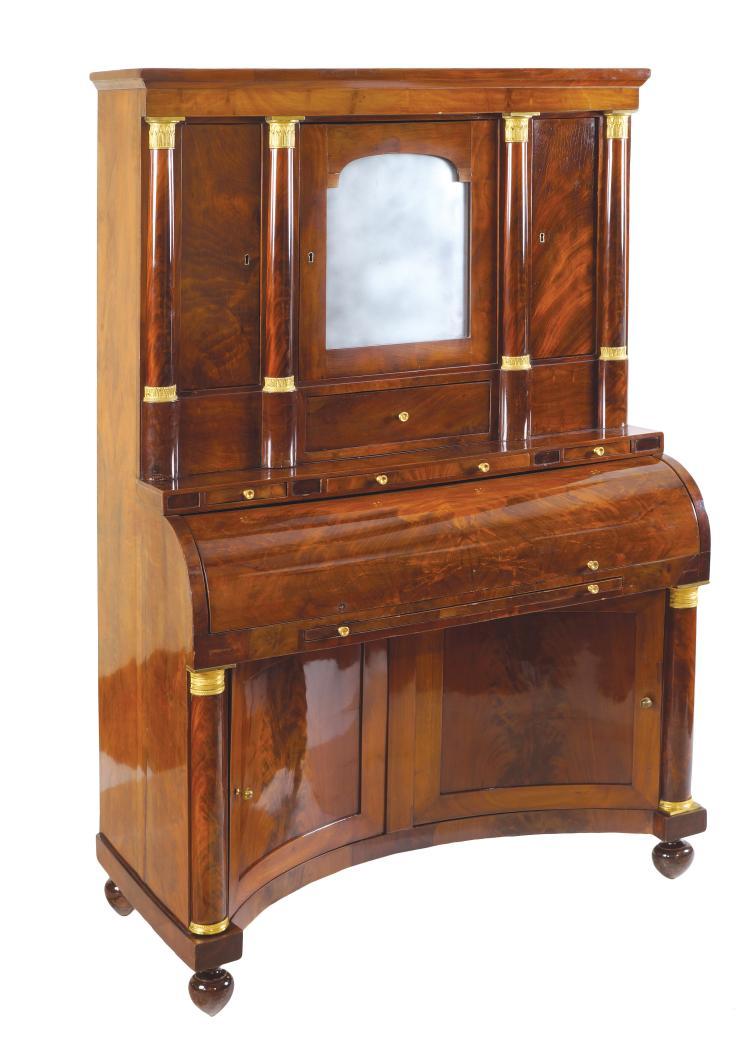 A french empire style mahogany bureau for Bureau in french