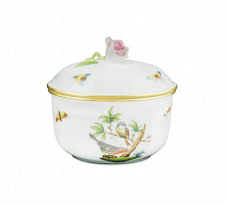 A Herend porcelain sugar bowl