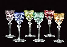 A Baccarat rhine wine glasses lot (6)