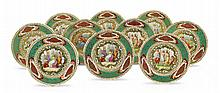 A set of Wien style porcelain plates (10)