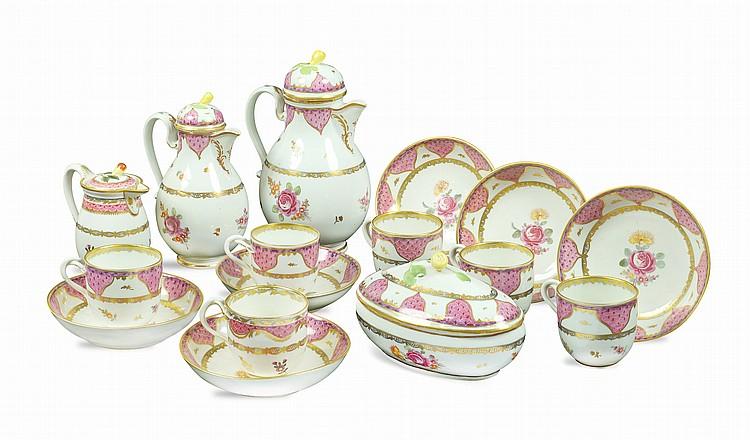 A porcelain tea and coffee service