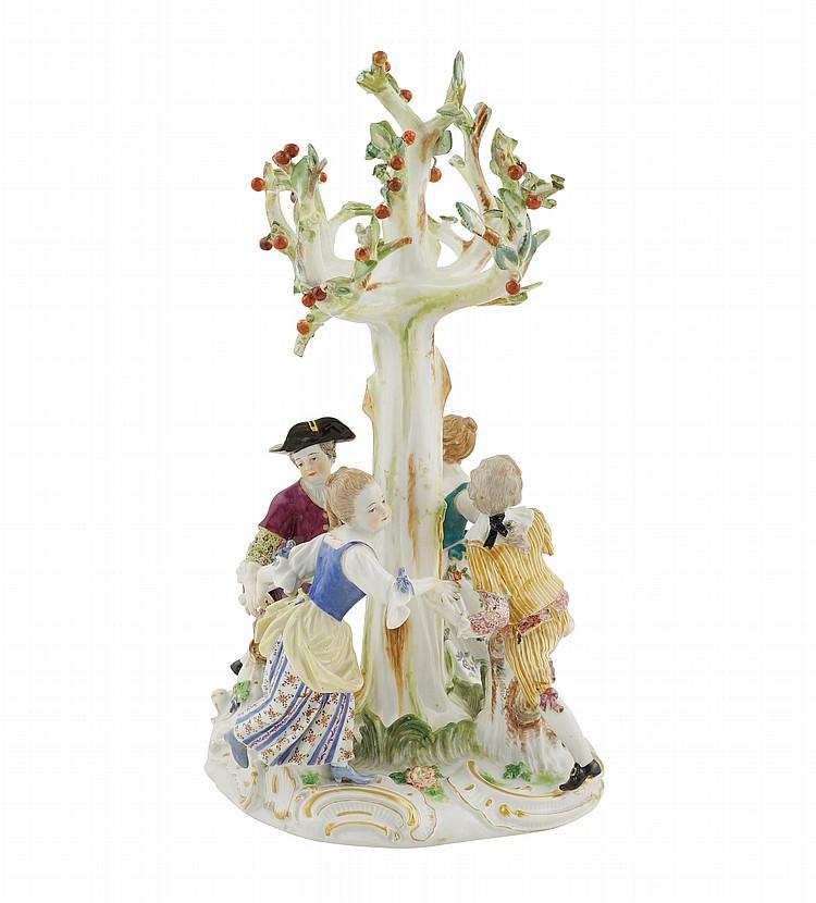 A Meissen porcelain group