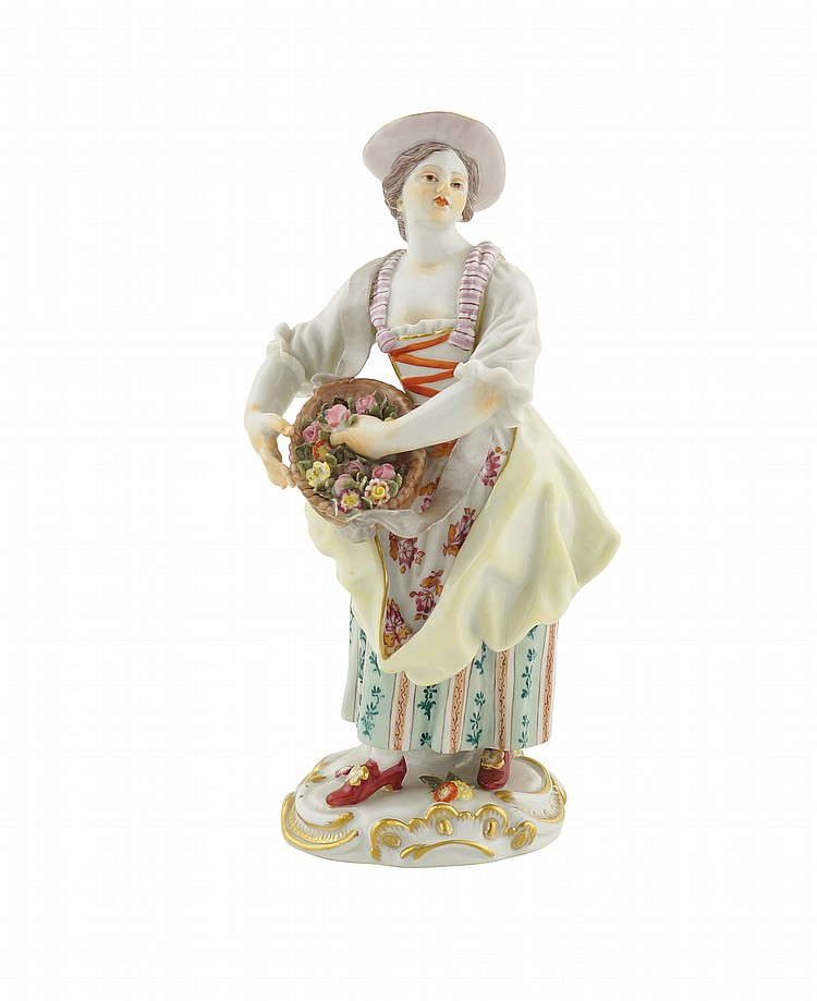 A Meissen porcelain group
