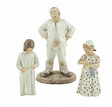 Three Bing & Grondahl porcelain figures