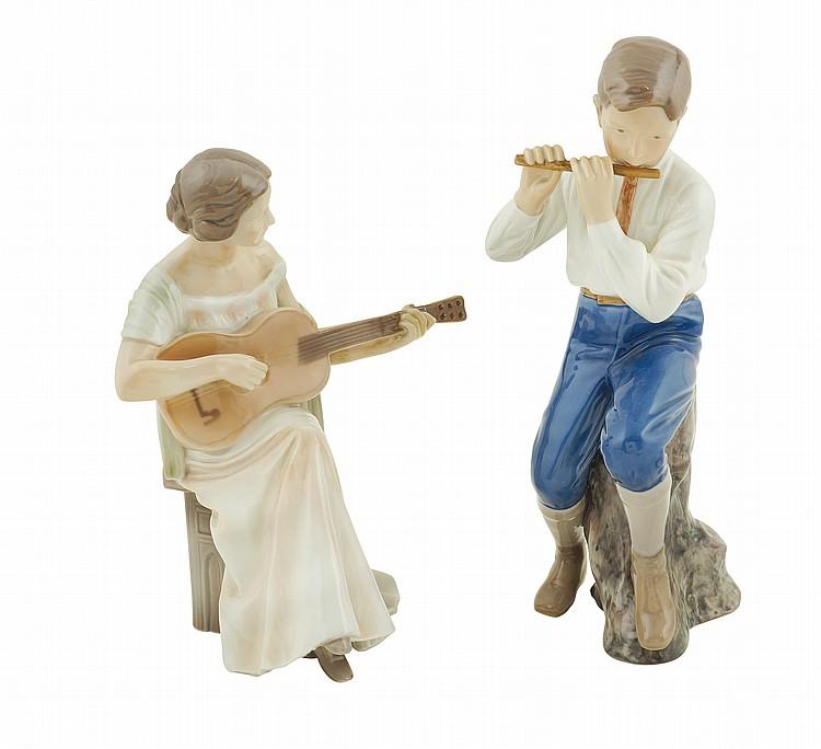Two Bing & Grondahl porcelain figures