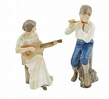 Two Bing & Grondahl porcelain figures