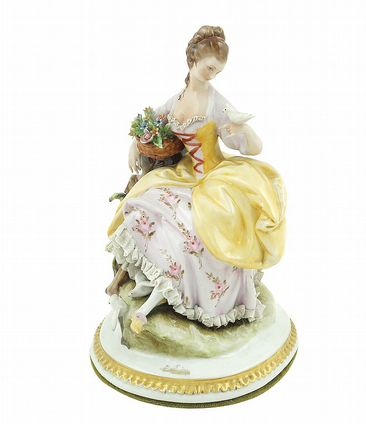 A polychromatic porcelain figure