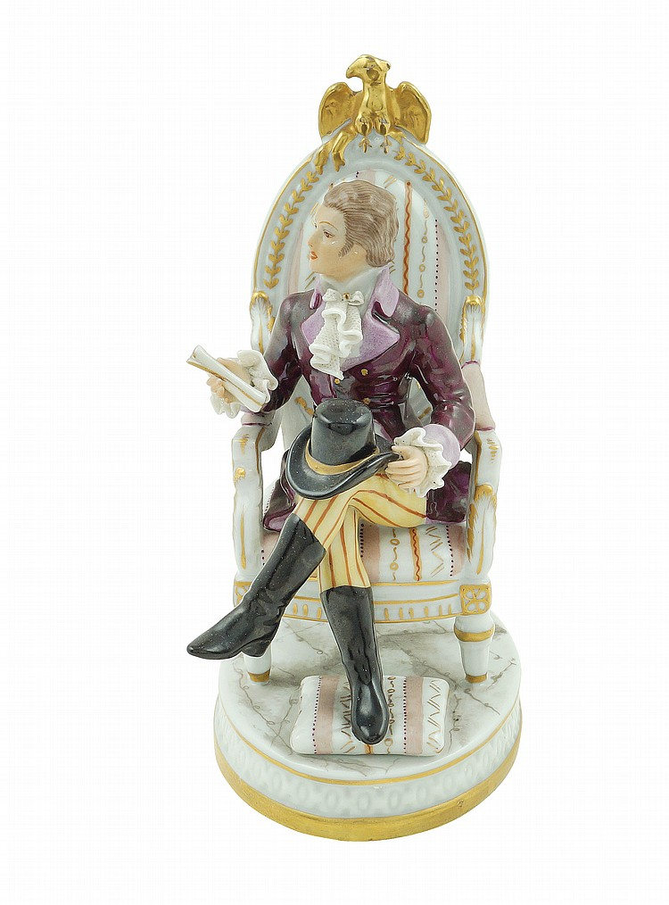 A polychromatic porcelain figure
