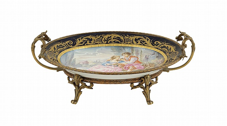 a Sèvres porcelain centrepiece