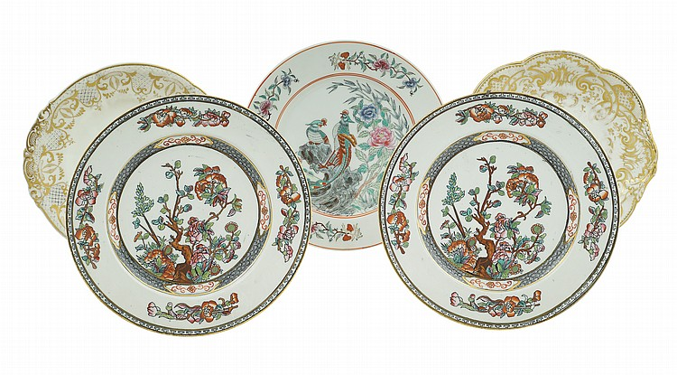 A set of porcelain plates (5)