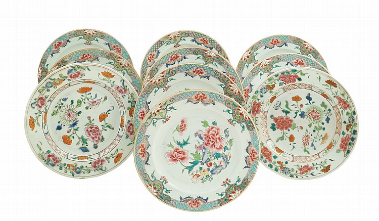 A Chinese porcelain plates lot (10)