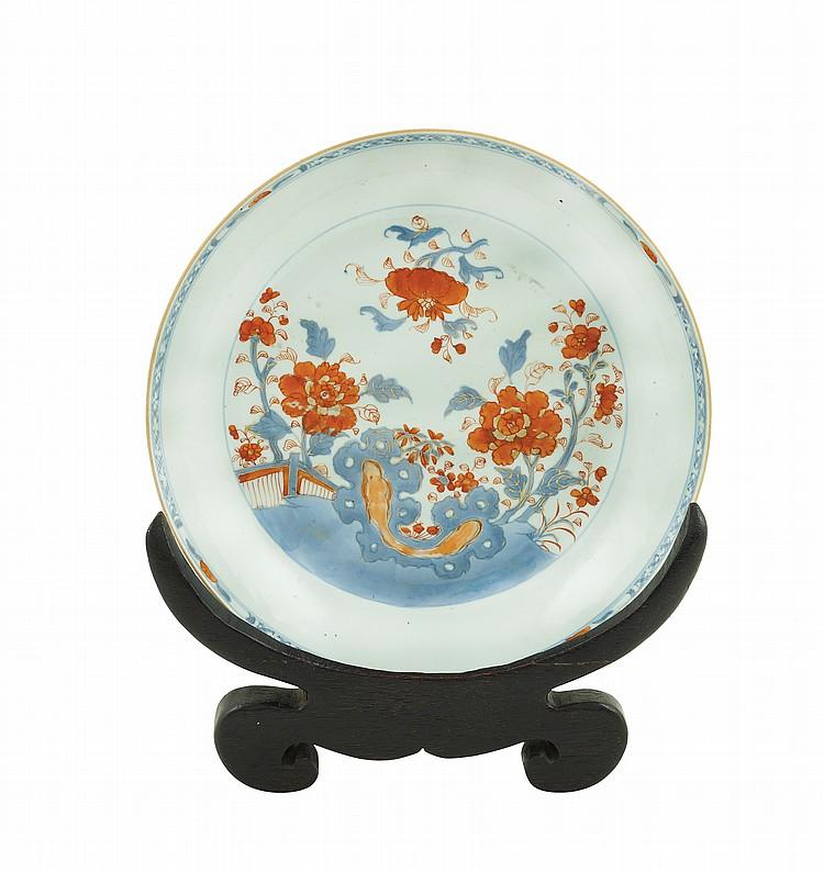 An Imari porcelain plate