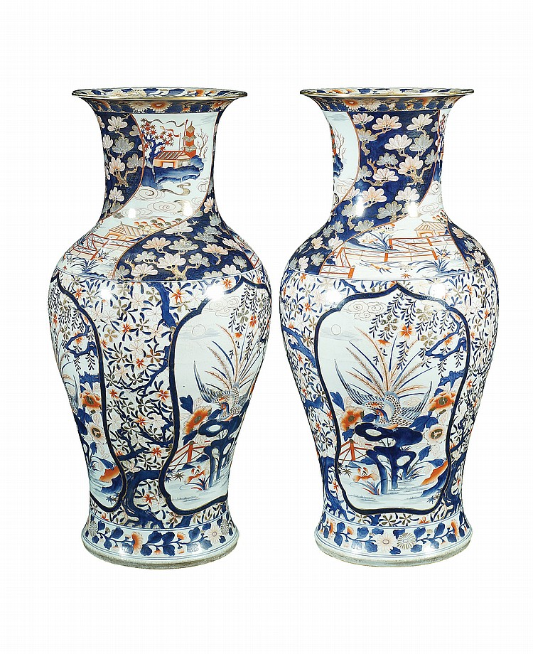 A pair of Oriental porcelain vases