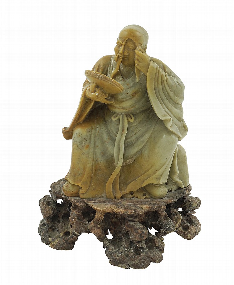 A jadeite Oriental sculpture