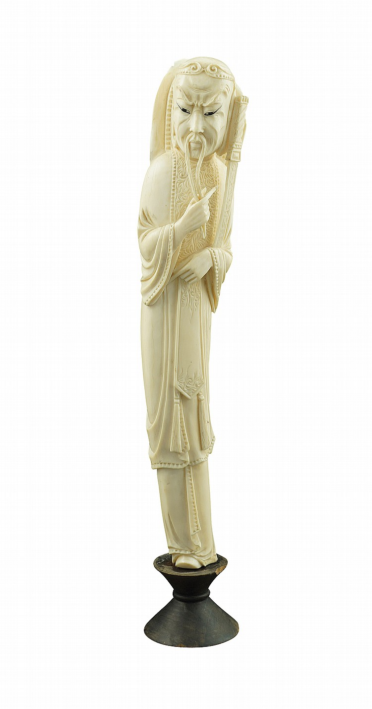 An Oriental ivory sculpture