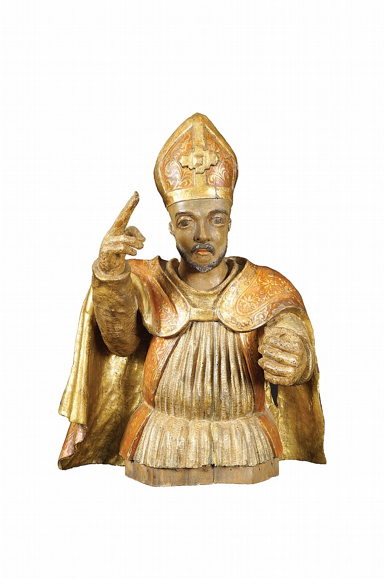 An Italian old wood sculpture