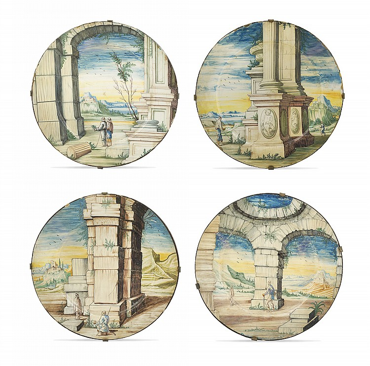 A maiolic plates lot (4)