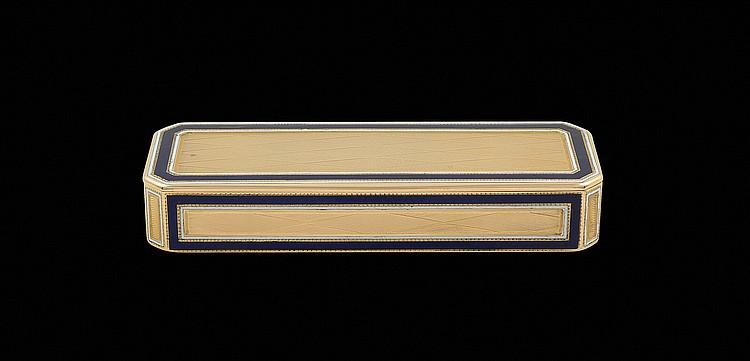 A Louis XVI gold and enamel snuff box