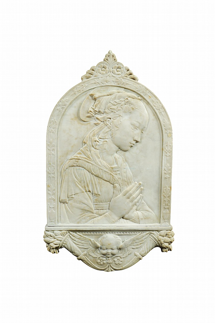 An Italian marble plaque