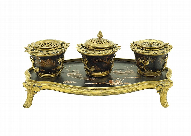 A Louis XV inkwell