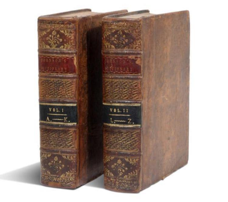 SAMUEL JOHNSON'S DICTIONARY, THE ESTEEMED 1785 FIRST QUARTO EDITION