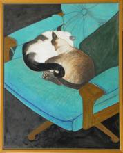 Tony Woods (1940 - 2017) Australia - (Two Cats)