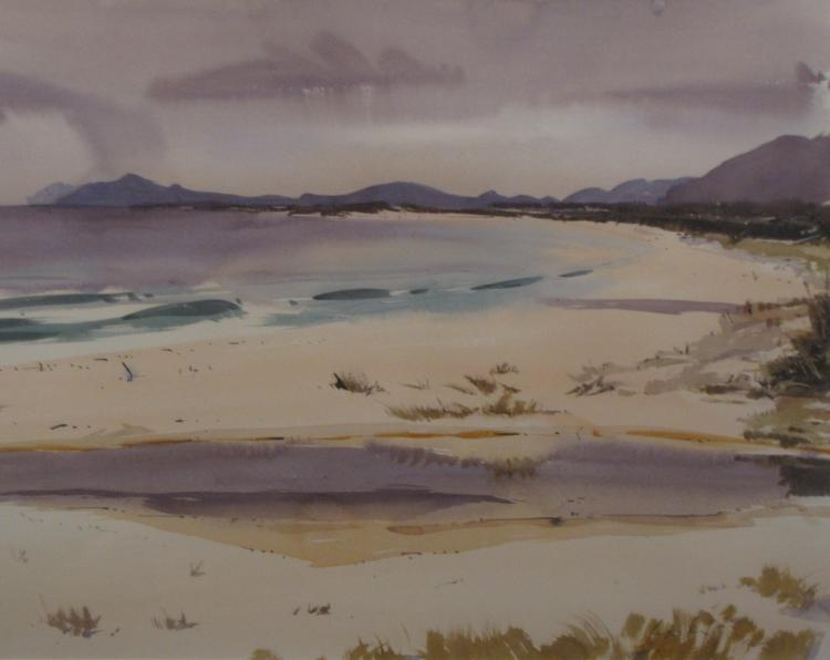 Roger Murphy (1939 - ) - Looking south Fr Chain of Lagoons