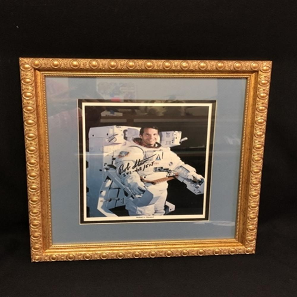Signed Robert L. Stewart NASA Framed Photo
