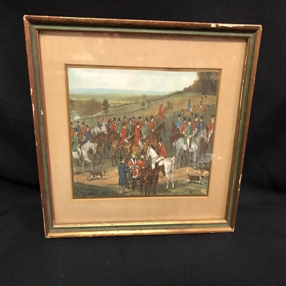 Matted and Framed English Scene Print