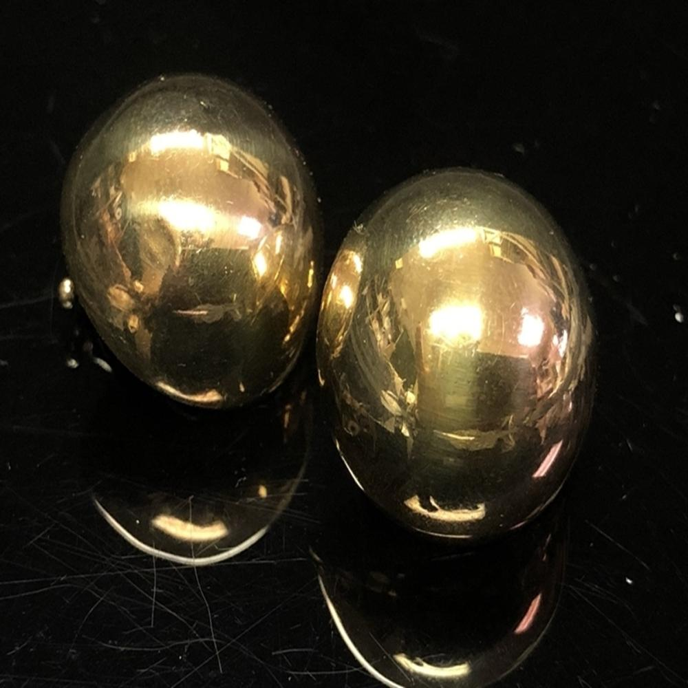 .925 Veronese Signed Gold Dome Clip earrings