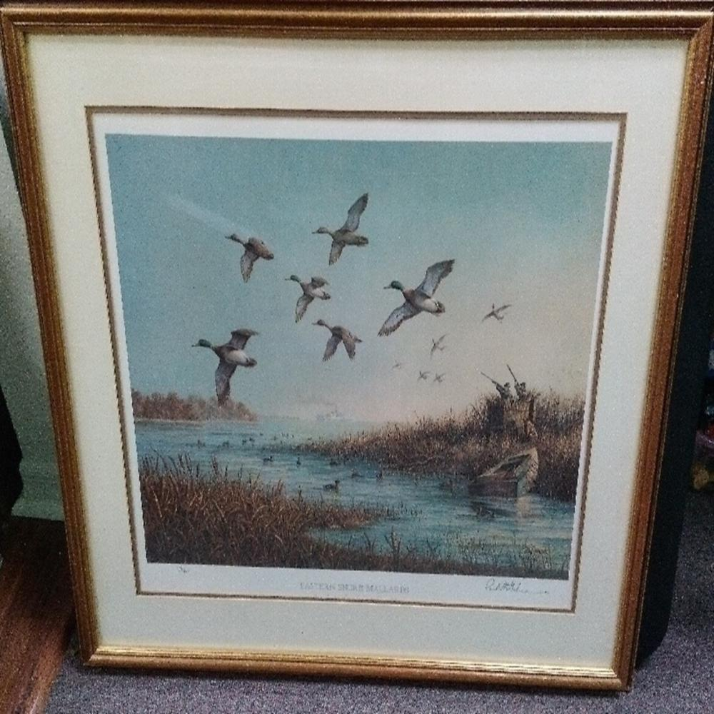 "Paul McGehee Framed ""Eastern Shore Mallards"" Pri"
