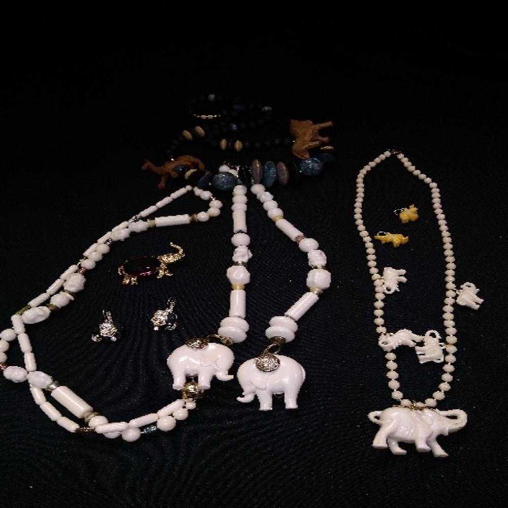Elephant Jewelry Lot