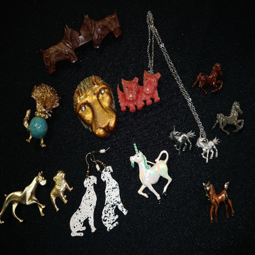 Dog and Horse/Unicorn Pin Lot
