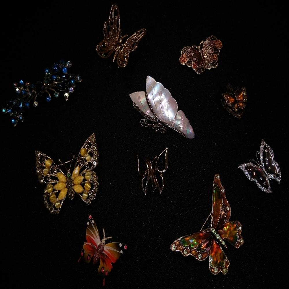 Butterfly Brooch and Pin Lot