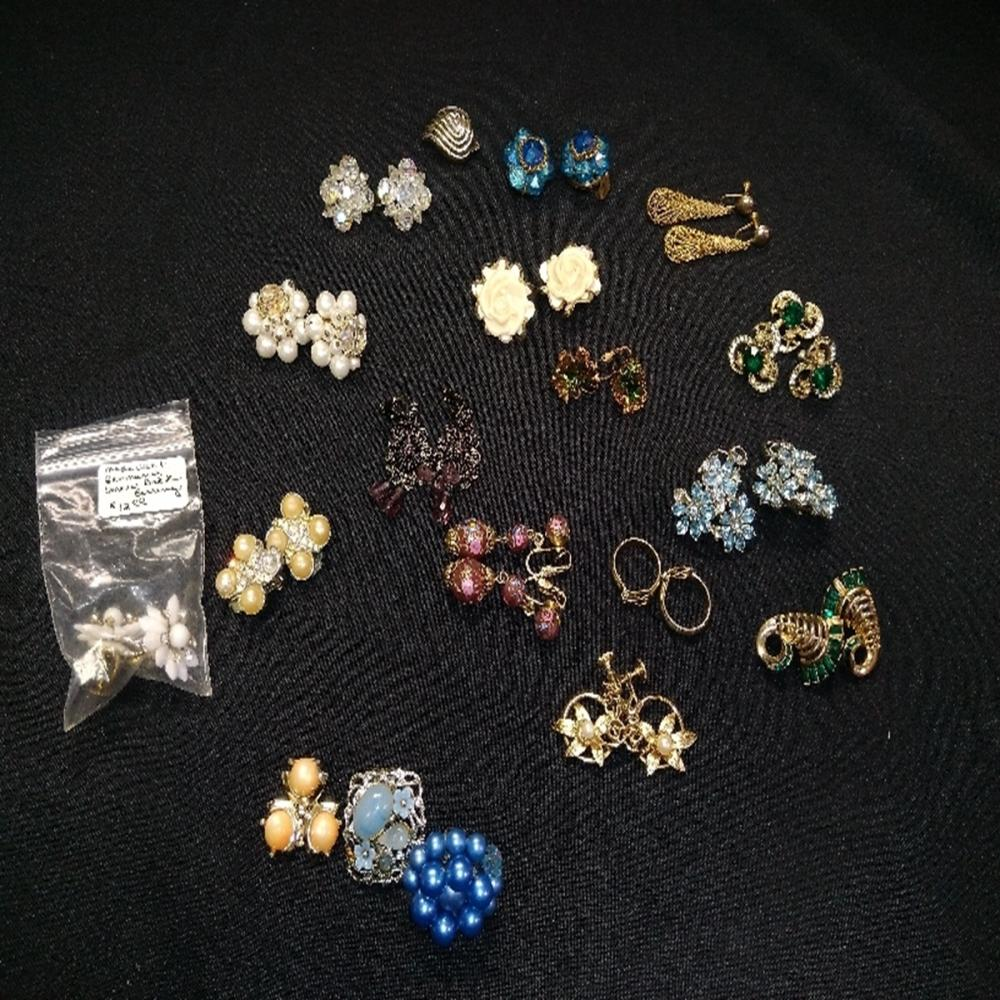 Vintage Clip On Earring Lot