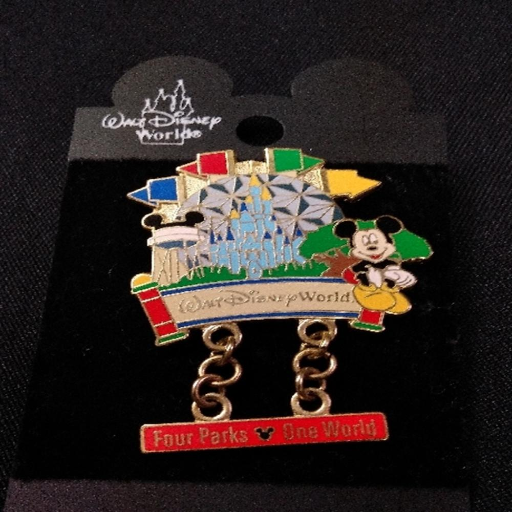 WDW 2000 Four Parks One World Dangle Pin