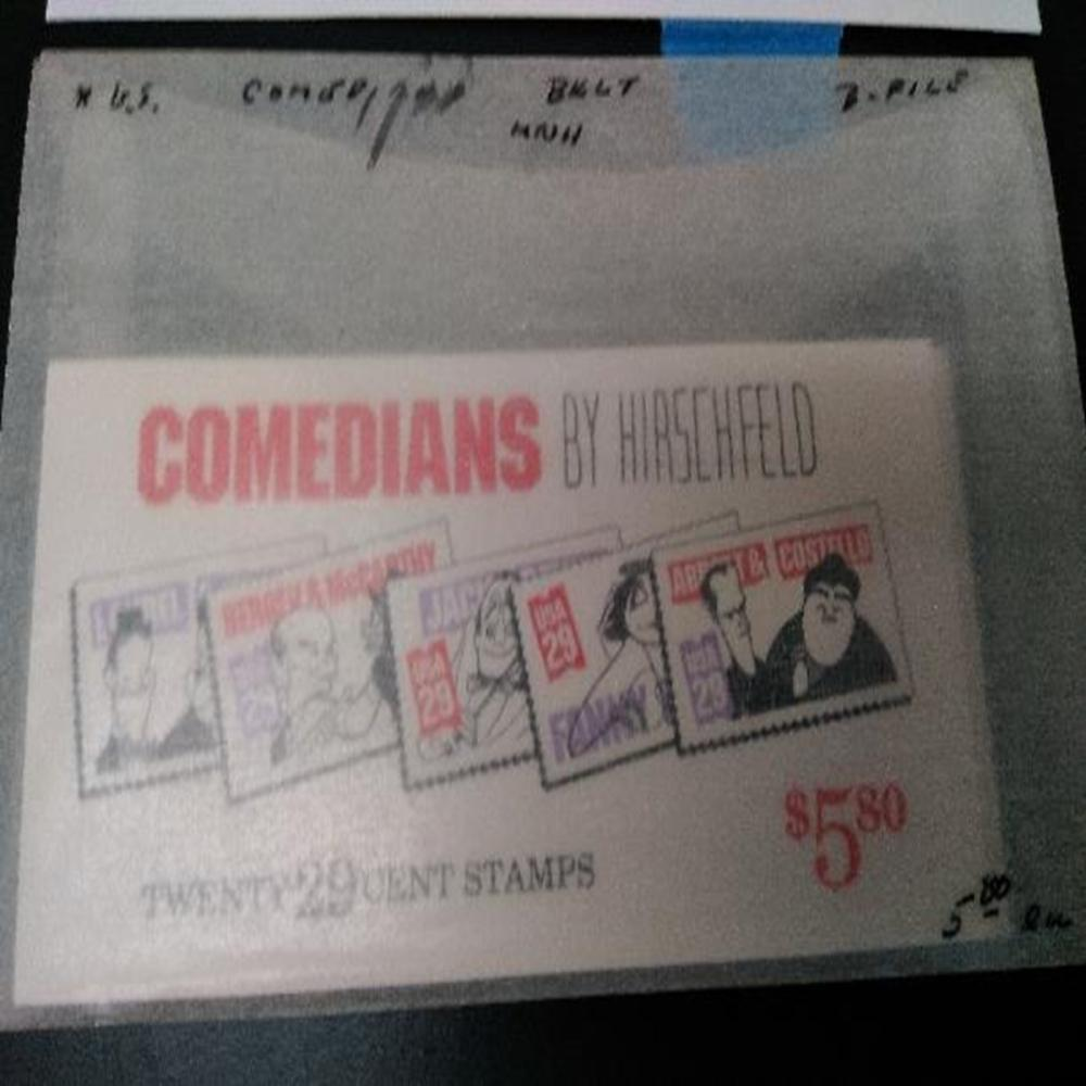 (2) US Scott BK191 Comedians by Hischfeld Stamps