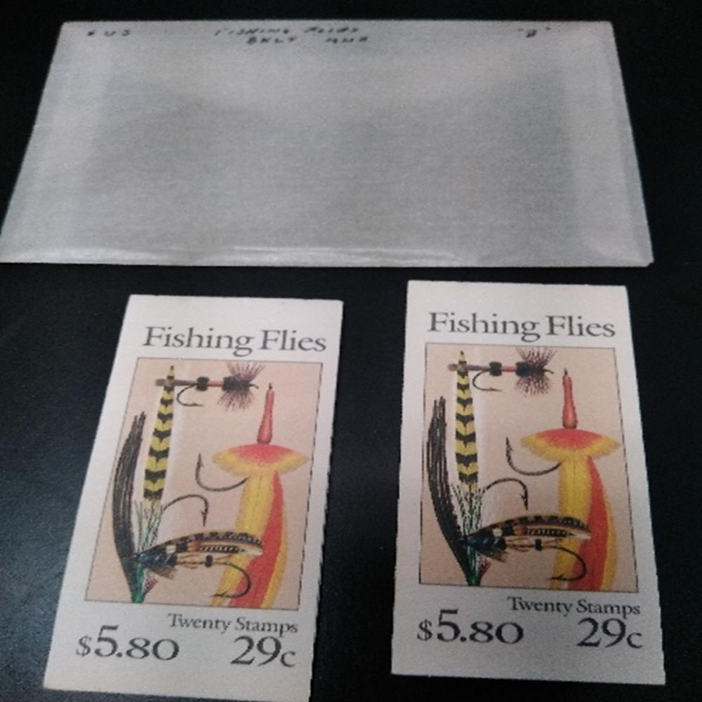 (2) US Scott BK 189 Fishing Flies 20 Stamp Booklet