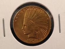 1908 $10 Indian Head Gold Coin