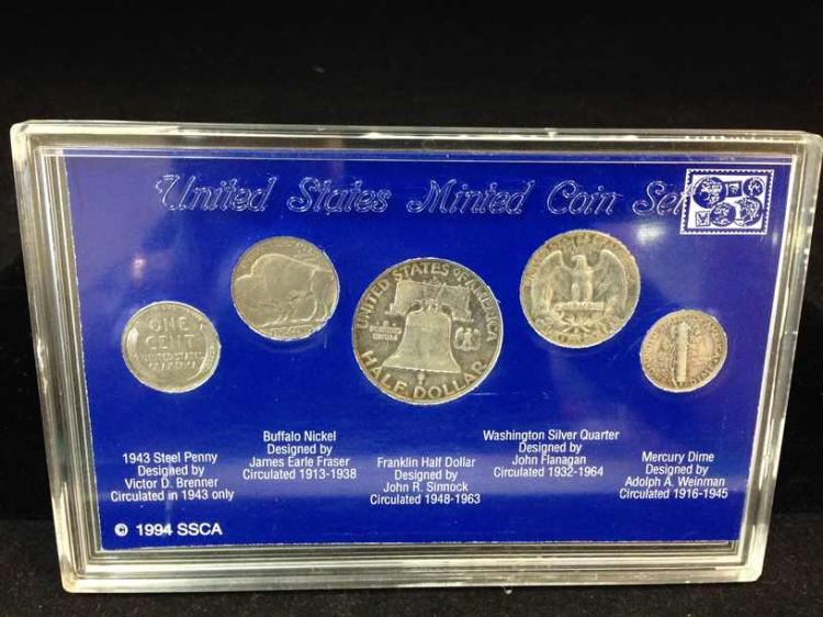 American Obsolete Coin Collection (5) Coins in All