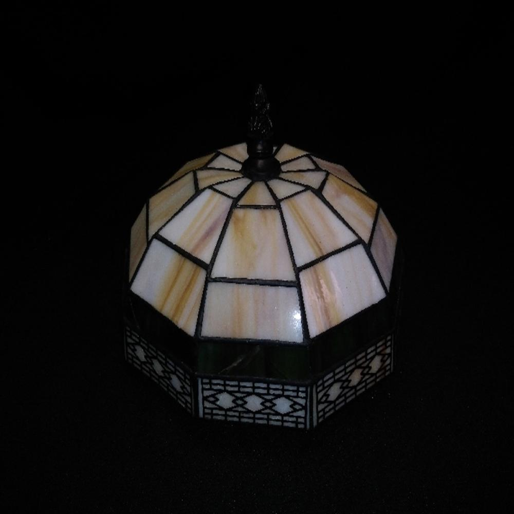 Vintage Slag Glass Lamp Shade with Metal Fastener