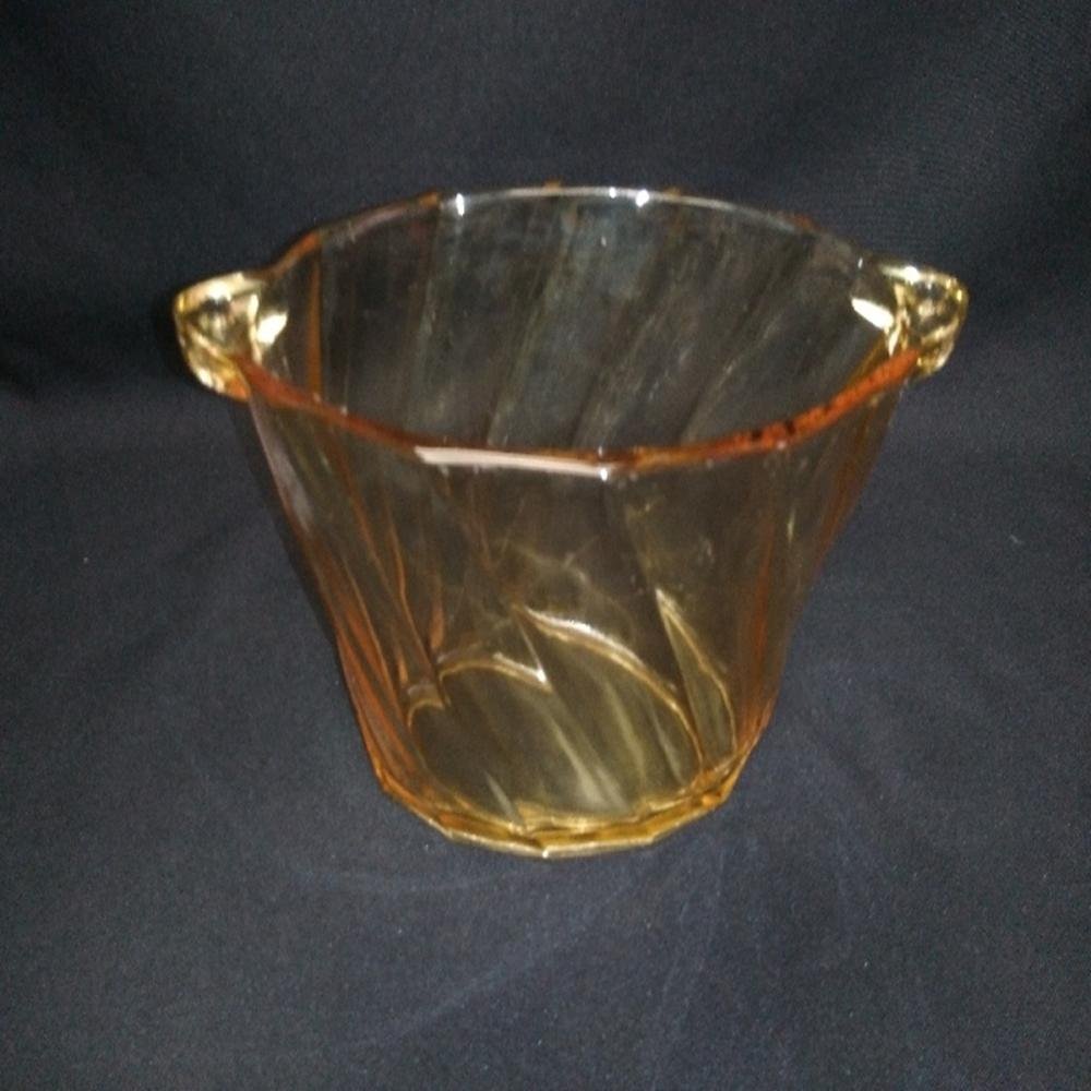 Heisey Ice Bucket Sahara Color Twist Pattern