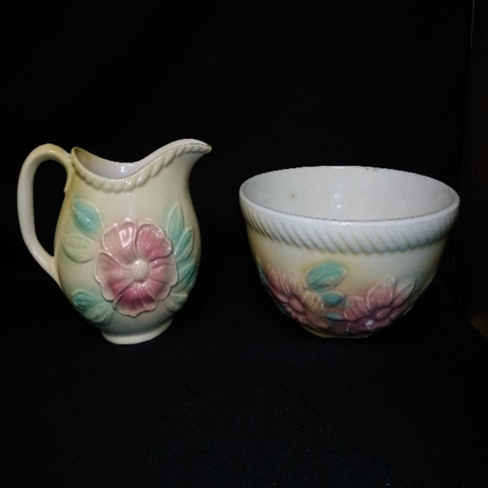 (2) Hull Pottery Pieces Sunglow Pattern #50 & #52
