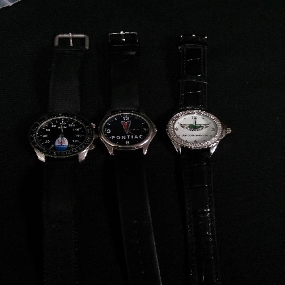 (3)Men's Watches: Ashton-Martin, Pontiac, Maserati