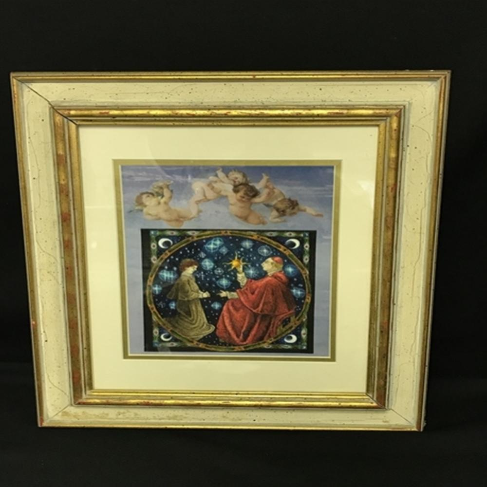 Framed Religious/Celestal Painting on Print